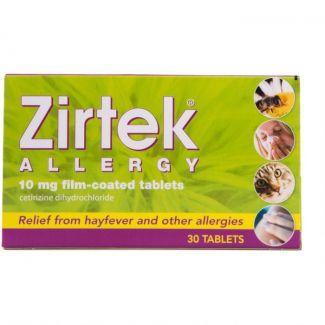 Zirtek Allergy Tabs 10mg 30