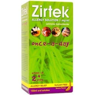 Zirtek Allergy Solution 1mg/Ml 150ml