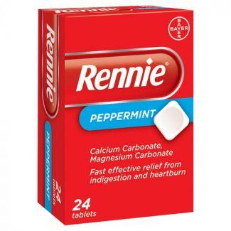 Rennie Tabs Peppermint 24