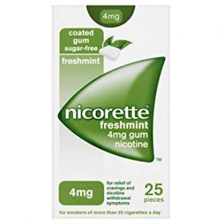 Nicorette Freshmint Gum 4mg 25