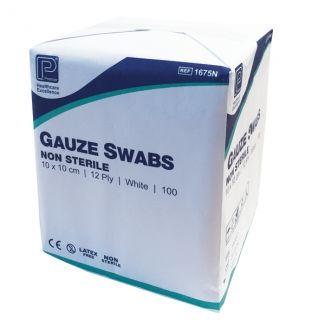 Gauze Swabs Non Sterile 12ply 10 x 10