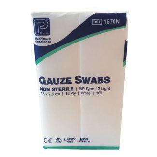 Gauze Swabs Non Sterile 12ply 7.5 x 7.5